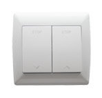 Inverseur 2 boutons à encastrer pour Rideaux  Grilles  et portes de Garages. ACPEFGS