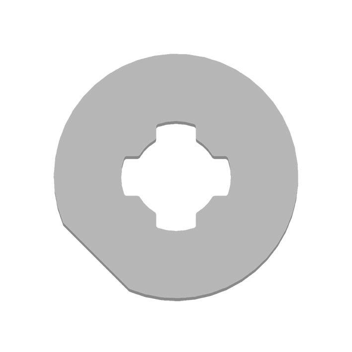 Kit adaptation moteur pour tube Rond 70 mm GAPOSA XQ5