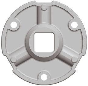 Adaptation moteur Gaposa Serie 80 pour tube rond 101.6*3.6 mm