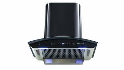 Faber 60 cm 1200 m3/hr Heat Auto Clean Chimney (Hood Crest HC SC BK 60, Filterless, Touch & Gesture Control, Black)