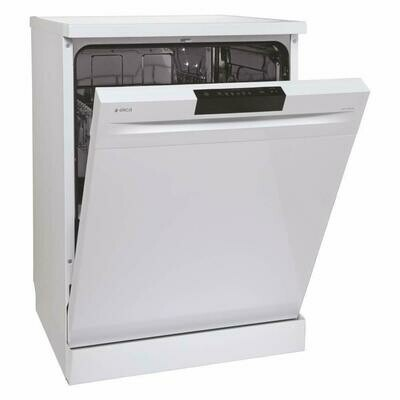 Elica 12 Place Settings Dishwasher with Soft Touch Key Control (Free Standing Dish Washer WQP12-7605V, White)
