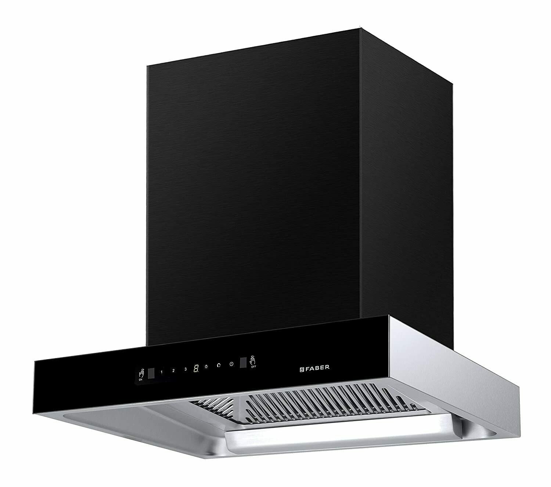 Faber 60 cm 1350 m³/hr Auto-Clean box-type Kitchen Chimney (HOOD JUPITER HC SC BK 60, Filterless technology, Touch Control, Black)
