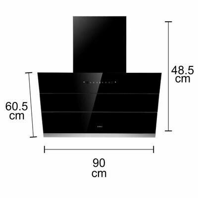 Elica 90 cm 1100 m3/hr Filterless Auto Clean Chimney (EFL-S901 HAC VMS, Motion Sensor Control, Black)