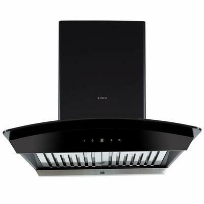 Elica 60 cm 1200 m3/hr Auto Clean Chimney (WDAT HAC 60 MS NERO, 2 Baffle Filters, Touch Control, Black) Motion Senor