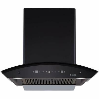 Elica 60 cm 1200 m3/hr Filterless Auto Clean Chimney (TBFL HAC TOUCH 60 MS, Touch + Motion Sensor Control, Black)