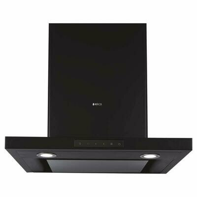 Elica Deep Silent Chimney with EDS3 Technology (SPOT H4 TRIM EDS HE LTW 60 NERO T4V LED, 1 3D Filter, Touch Control, Black)