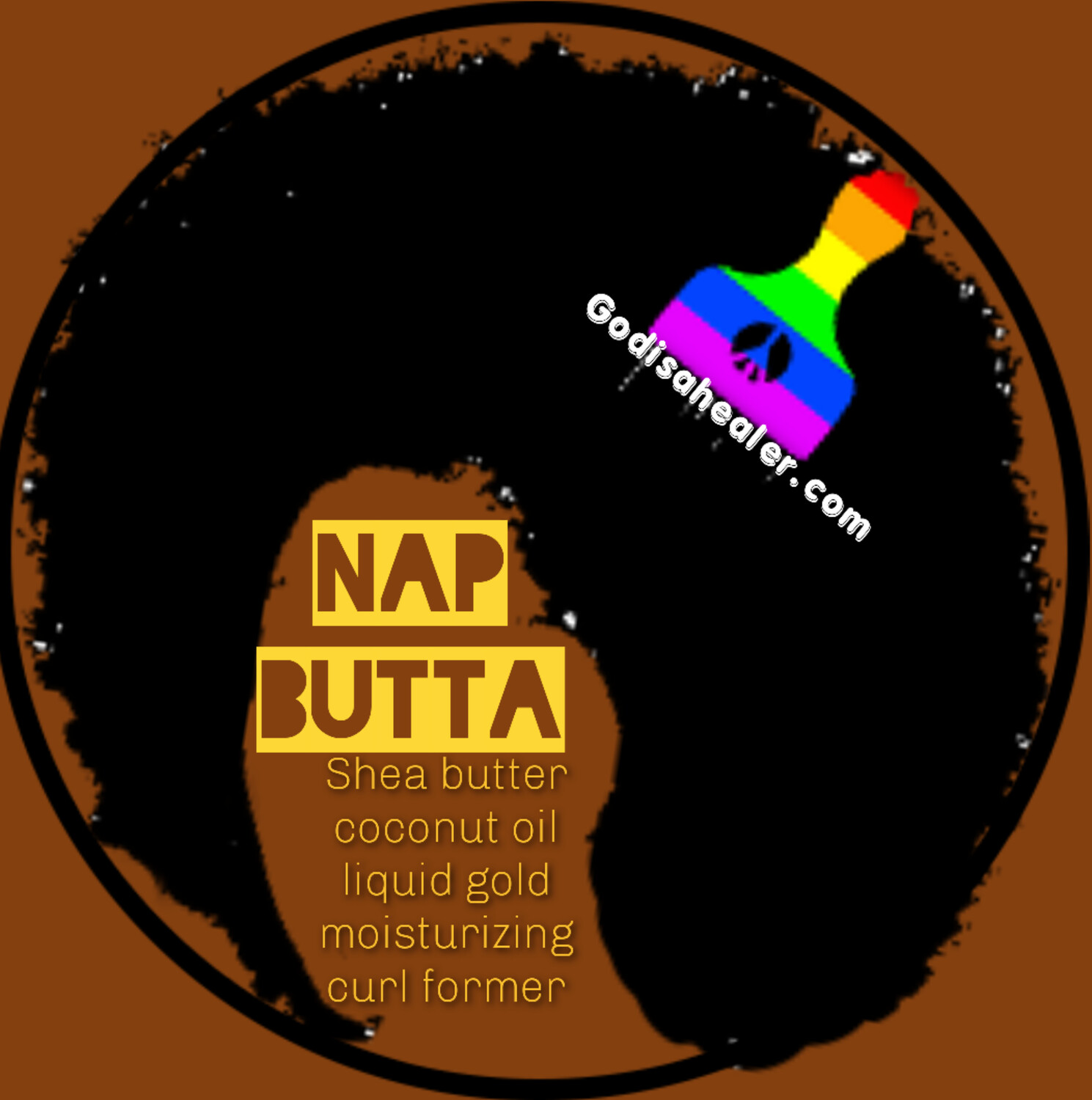 Hair Nap Butta 8oz Nap Butta is a great moisturizing curl former and enhancer. Loaded with shea butter, flax seed oil, rice bran oil, and coconut oil, to keep your curls soft and shiny.