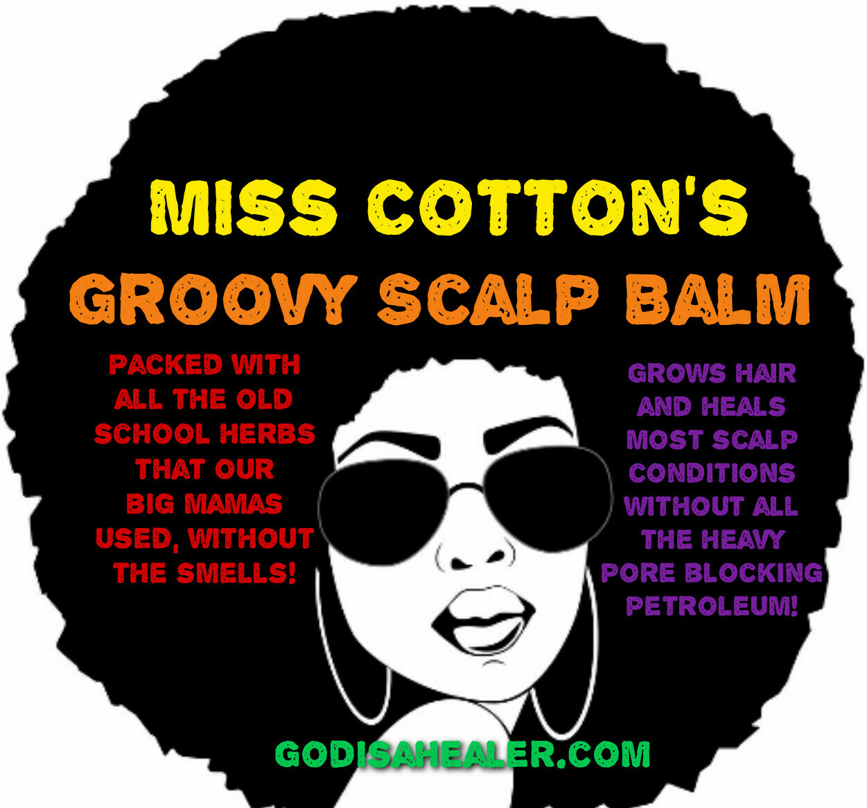 Hair Grease Groovy Scalp Balm 8oz Heals most scalp conditions, promotes hair growth. Old fashioned herbs from a family recipe that has proven results!