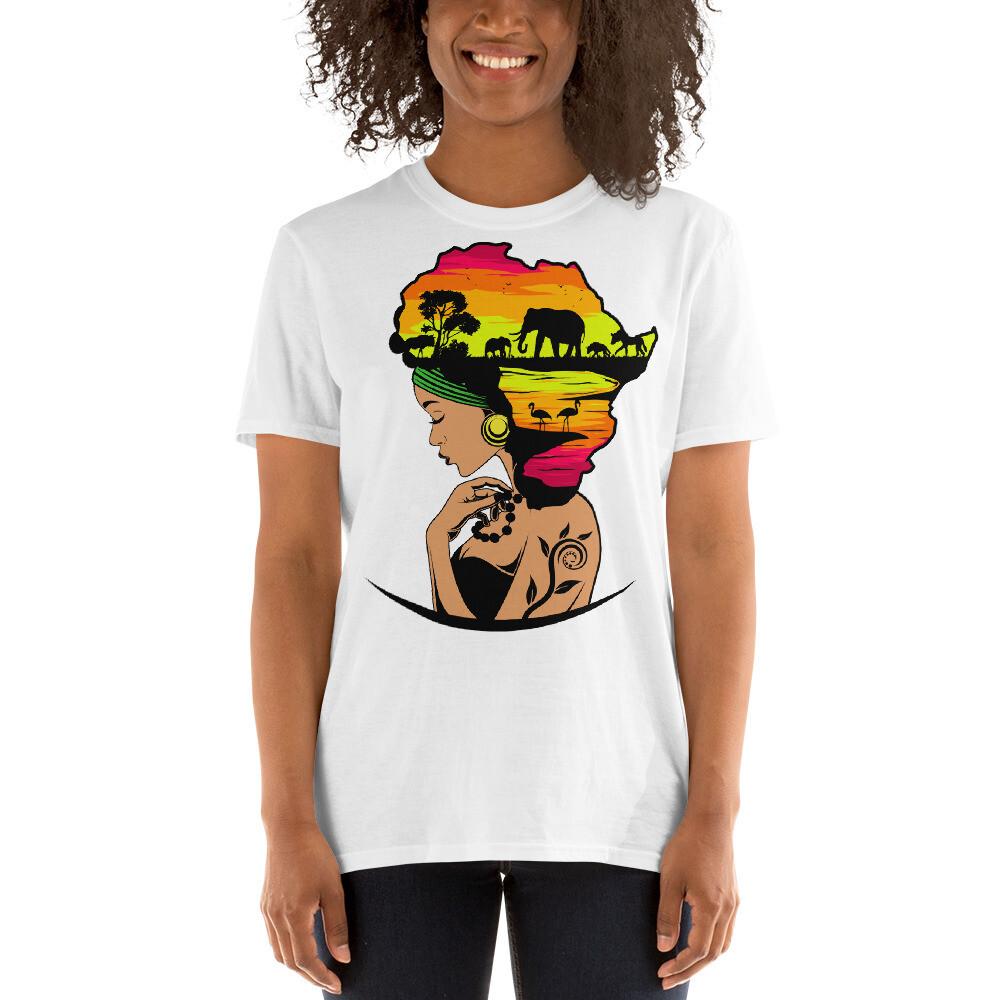 Short-Sleeve Africa Hair Unisex T-Shirt