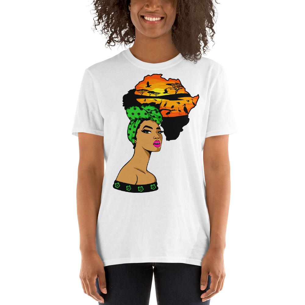 Short-Sleeve Africa Wrap Unisex T-Shirt