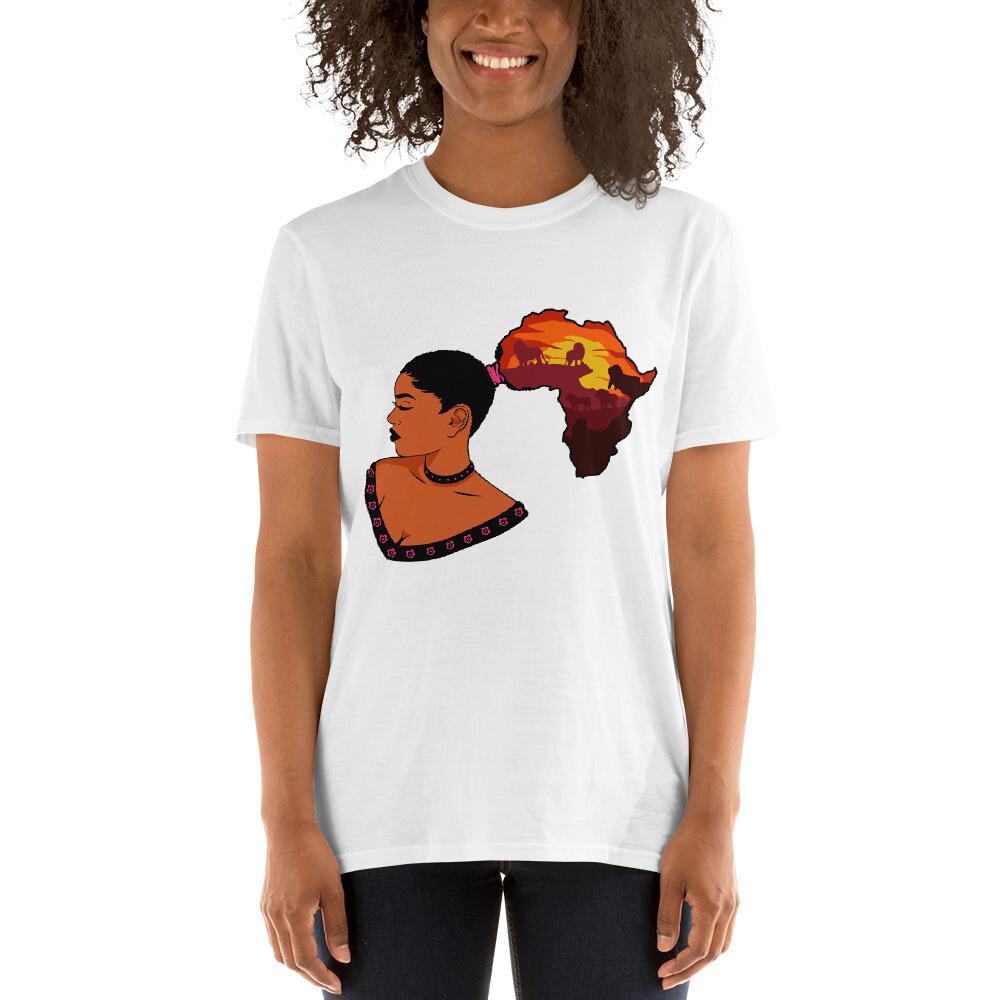 Short-Sleeve Africa Ponytail Unisex T-Shirt