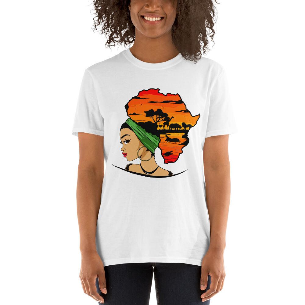 Short-Sleeve Africa Puff Unisex T-Shirt