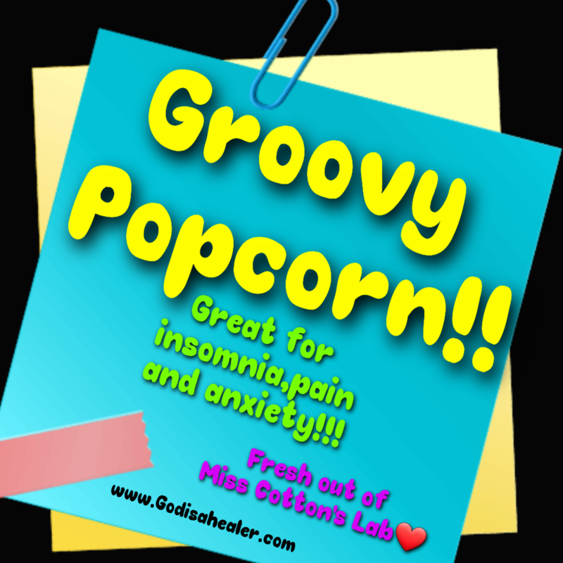 Eddie Bull's Medibles  Groovy Caramel and Cheddar Anti Anxiety Popcorn