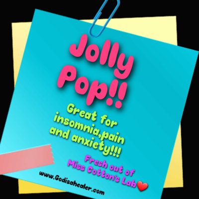 Eddie Bull's Medibles Extra CBD Jolly Pop Lollipop for Pain and Anxiety higher cbd content.