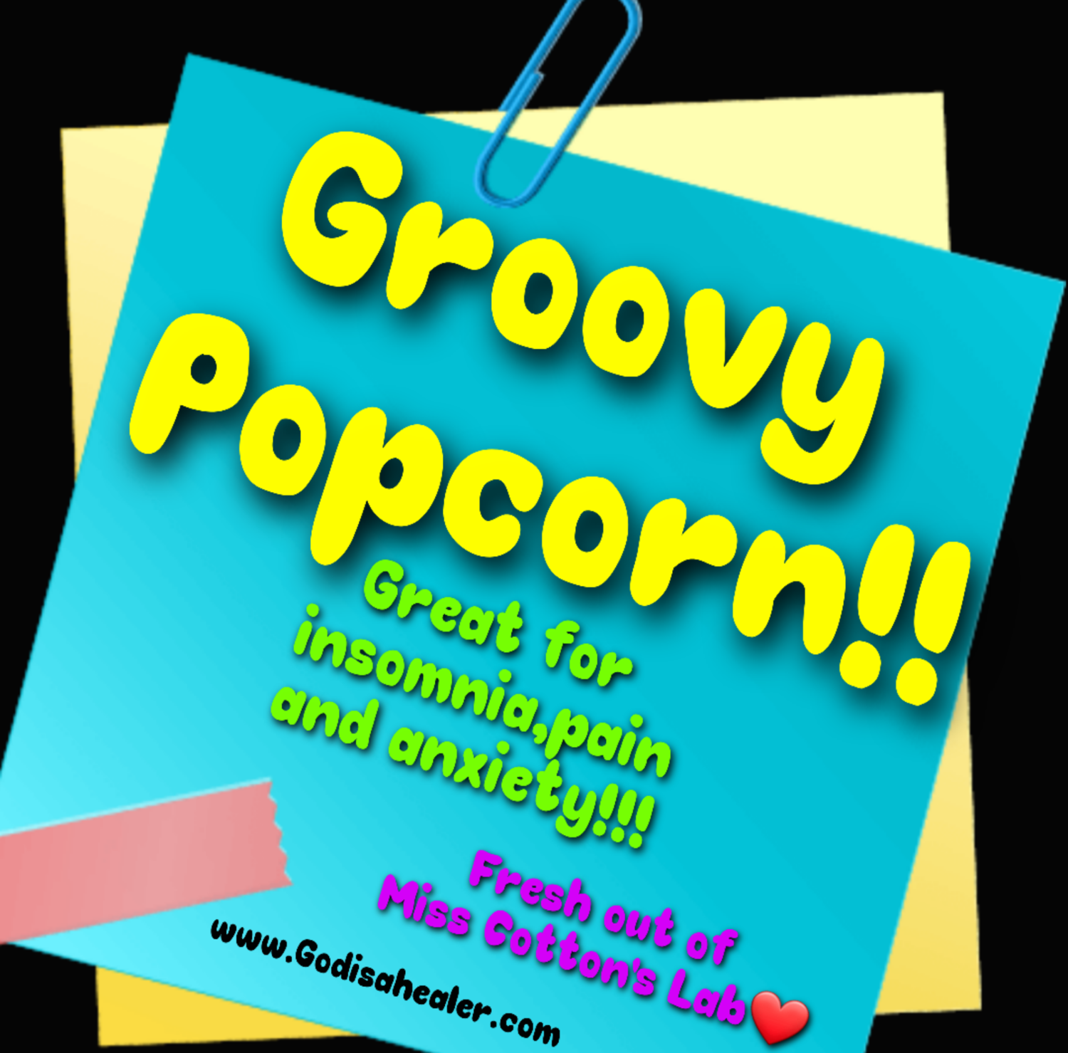 """Eddie Bull's Medibles """"Dirty"""" Rainbow Popcorn ( very high Cbd content!) Popcorn tossed in fruity and salty glazes Infused with healing cannabutter."""