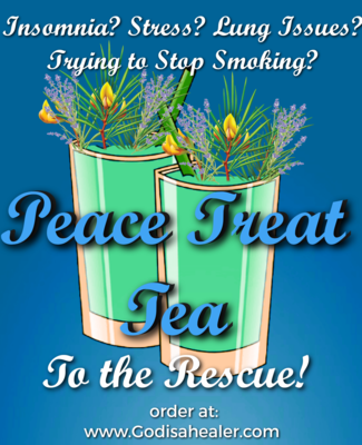 (Peace Treat Tea) One Gallon Tea bag Lung repair for any lung issues, calms anxiety, overall sense of well being, eliminate stress.  Sleep aid.Peace.