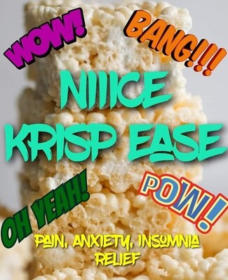 Eddie Bull's Medibles Cereal Bars (Niiiice Krisp Ease)  ( very high Cbd content!)