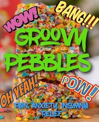 Eddie Bull's Medibles Cereal Bars (Groovy Pebbles)  ( very high Cbd content!)