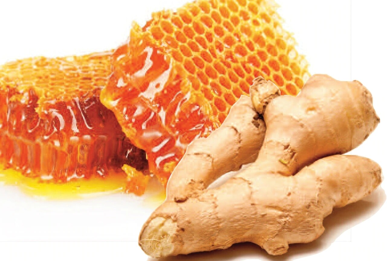 Ginger  lemon honey crystals (Dried ginger, lemon and honey crystals to add to your tea. Drink alone for upset stomach and nausea)
