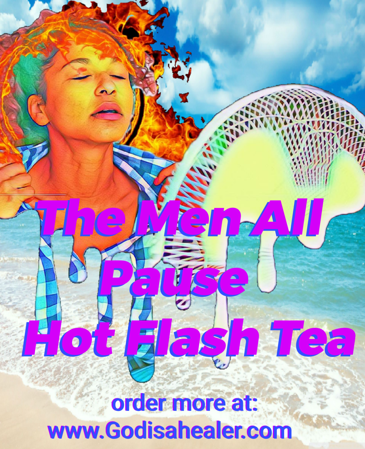 """The Men All Pause Hormone Stabilizing Tea """"lady issues"""" One Gallon Tea bag"""
