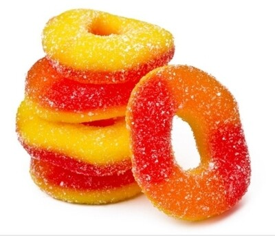 Eddie Bull's Medibles Gummy Peach Rings for Pain and Anxiety (2)
