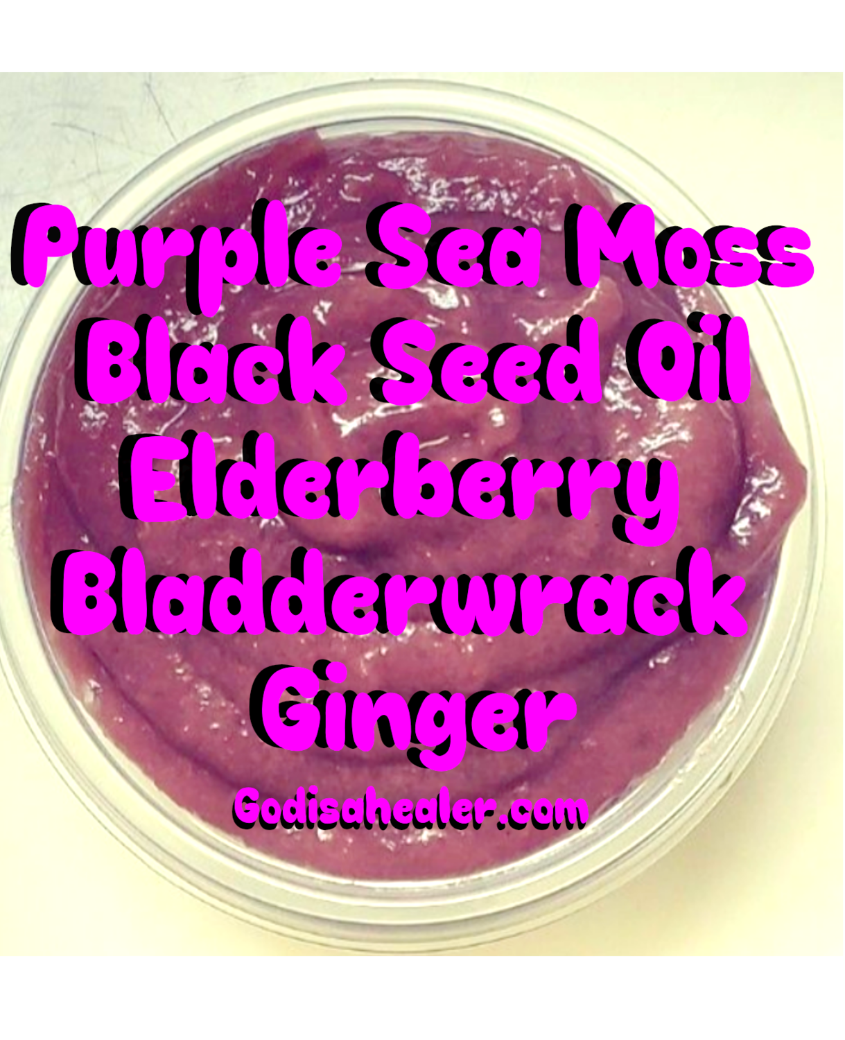 Super Immunity Purple Seamoss Mason Jar Or Two 8 ounce containers for shipping.