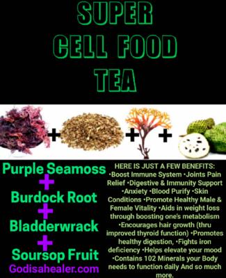 Super Cell Food Gallon Tea Bag.