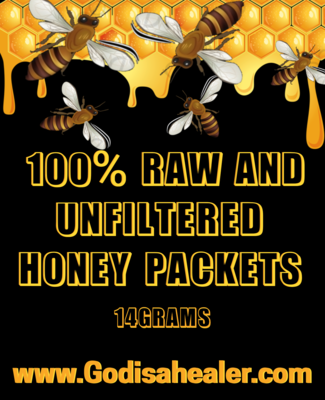 100% Raw Unfiltered Honey Packet. 14 grams