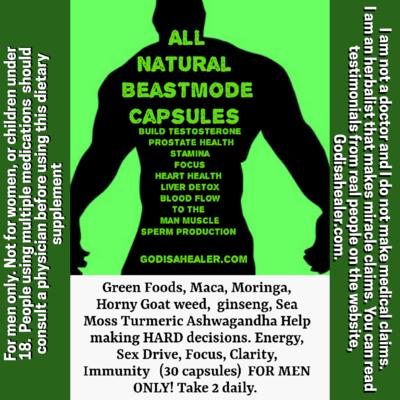 Beastmode (30 capsules) FOR MEN ONLY!