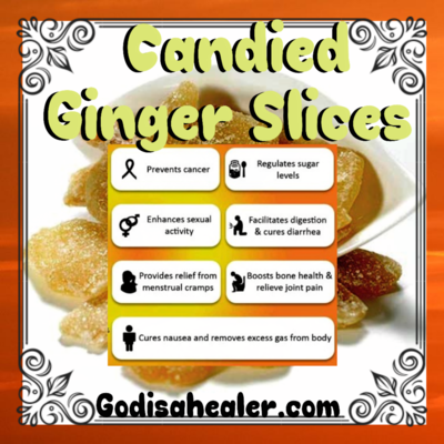 Candied Ginger Slices 8 oz