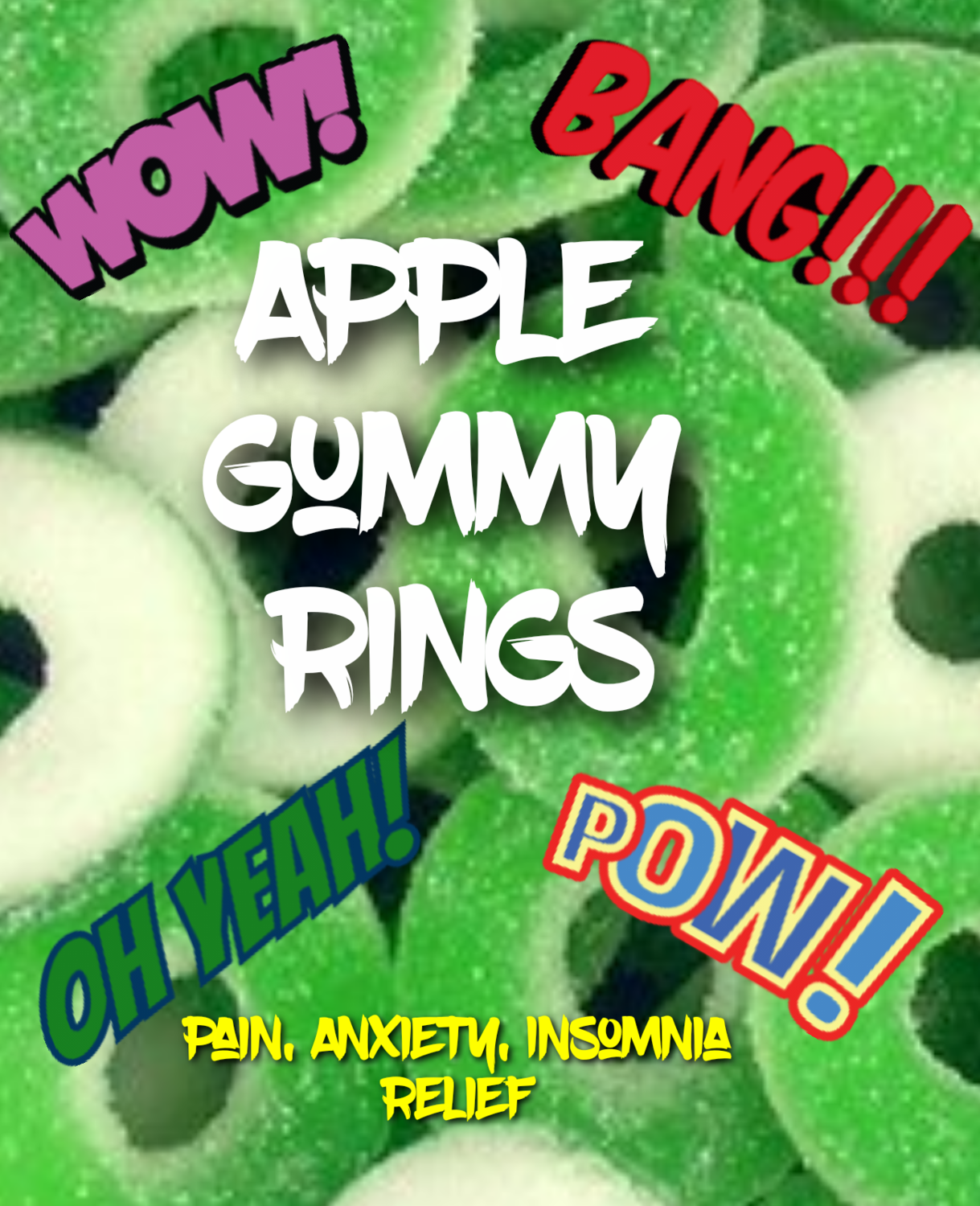 Eddie Bull's Medibles Gummy Apple Rings for Pain and Anxiety (2)