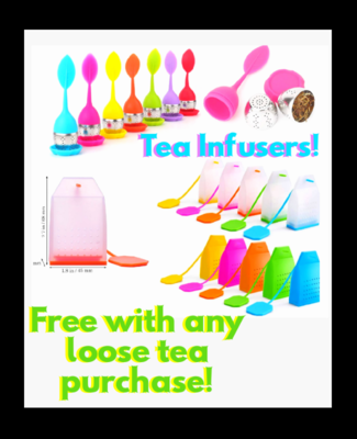 Silicone Tea Infusers. Assorted Colors Selected Randomly