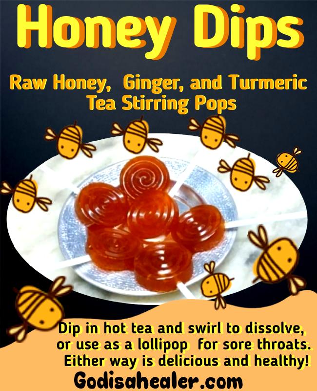 Honey Drops Raw Honey, Ginger and Turmeric Throat Lozenges (4)