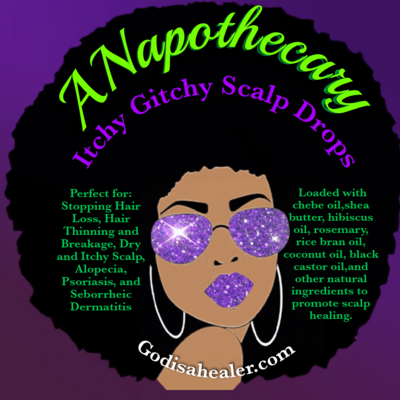ANapothecary Itchy Gitchy Hibiscus Chebe Oil  Cooling scalp drops