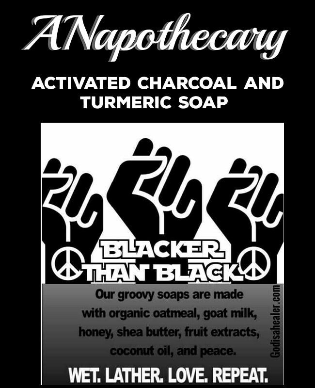 Activated Charcoal and Turmeric Organic Soap.