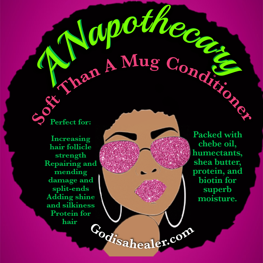 ANapothecary Smoove Than A Mug Hibiscus Chebe Oil Conditioner 8oz