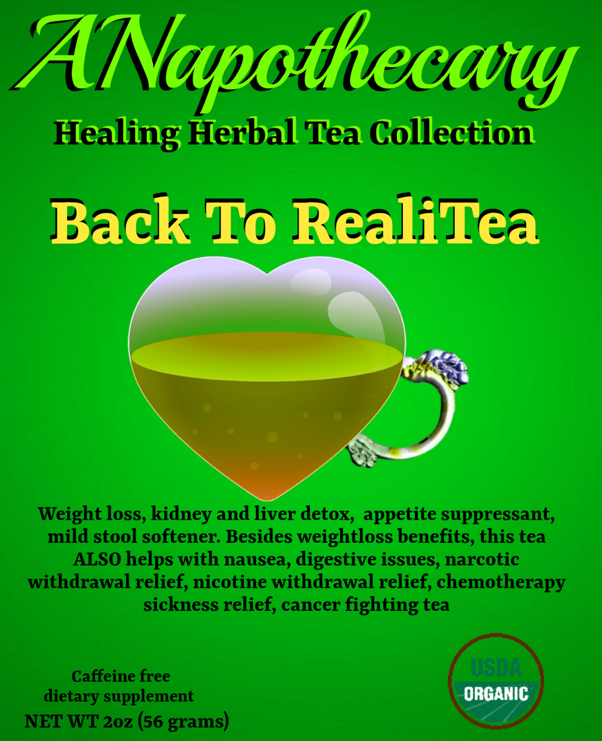 Back To RealiTea Detox One Gallon Tea bag