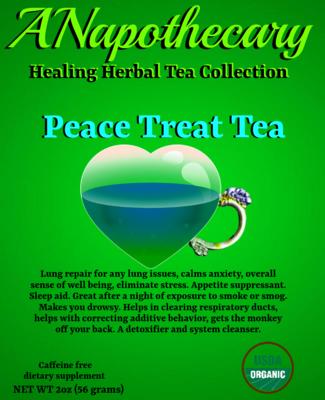 Peace Treat Kush CBD  Tea One Gallon Tea bag
