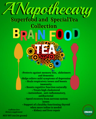 Brain Food Gallon Tea Bag.