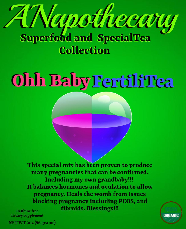 Oh Baby Auntea Baby Fertilitea Mix One Gallon Tea bag