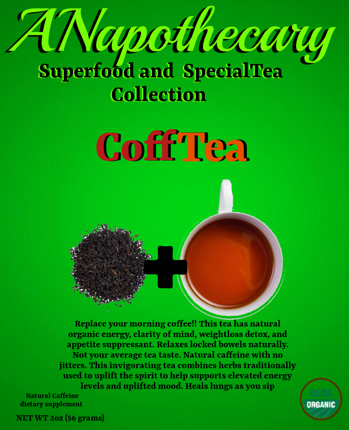 CoffTea 20 cup container. Brew like coffee.