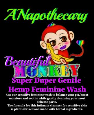 Beautiful Monkey Super Duper Sensitive Hemp Feminine Wash