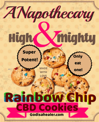 Eddie Bull's Medibles High and Mighty Rainbow Chip Cookie (higher cbd content) 2 cookies