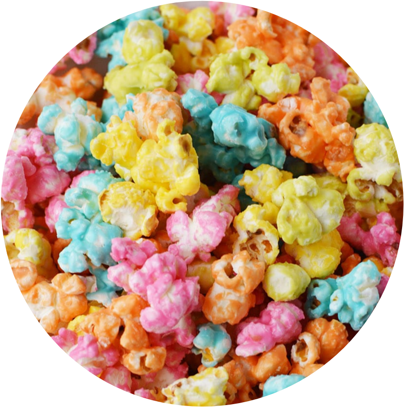 Dirty Rainbow Popcorn( very very high Cbd content! Only eat 10 kernels at a time.)