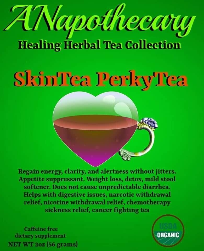 BREWED! Skintea Perkytea All Natural Weightloss Detox Energy Tea One Gallon teabag (Women)