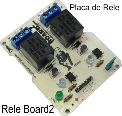 Placa de Rele da Projetos Maker. Rele Board2
