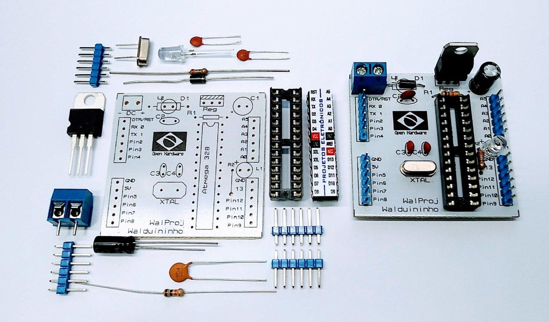 Walduininho - Placa baseada no Arduino  placa Ideal para oficinas , treinamentos e Workshop para iniciantes . **** Atenção **** A Placa não acompanha o microcontrolador Atmega328 - de 29,00 por ...