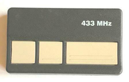 433MHz Chamberlain / LiftMaster Three Button Remote