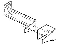 Genie Photo Safety Beam Extension Brackets (Old Style), 34439S.S