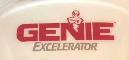 Genie Excelerator Red Silver Labeled Light Lens Cover